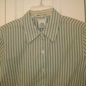 George Green Striped LS Button Up Shirt, L (12/14)